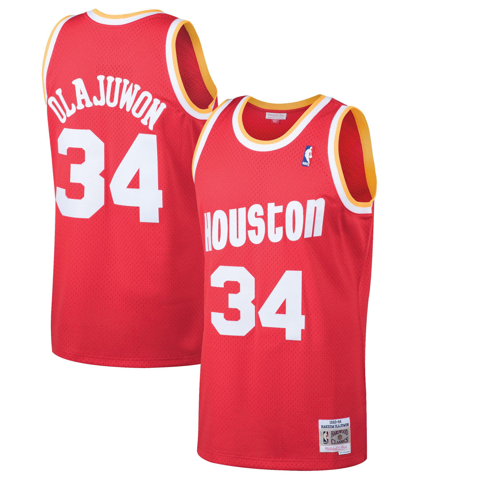 Hakeem Olajuwon Houston Rockets Mitchell & Ness 1993-94 Hardwood Classics Swingman Jersey - Red
