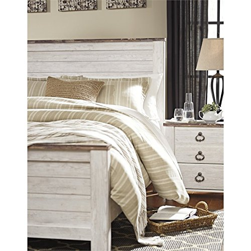 Ashley Willowton Queen Panel Bed In, Willowton Queen Panel Bed