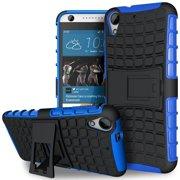HTC Desire 530 / Desire 630 TPU Slim Rugged Hybrid Stand Case Cover Blue