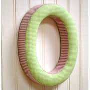 New Arrivals ''o'' Fabric Letter in Pink / Green