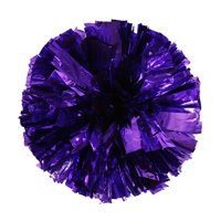 Metallic Foil And Plastic Ring Handheld Pom Poms Cheerleading Party Decor