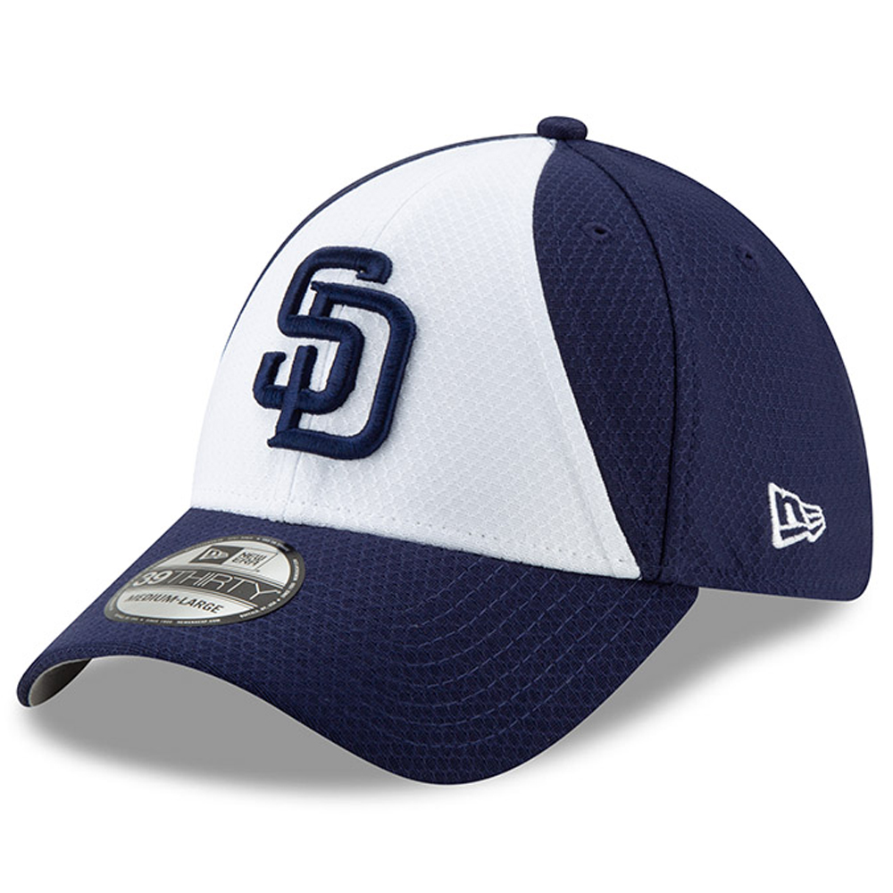 San Diego Padres New Era 2019 Batting Practice 39THIRTY Flex Hat - White/Blue