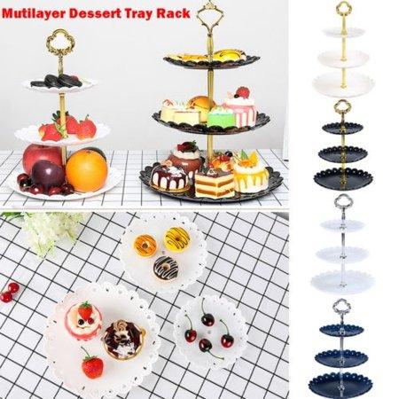 - Birthday Party 3-Tier Stand Three-layer Fruit Plate Cake Stand Dessert Vegetable Storage Rack