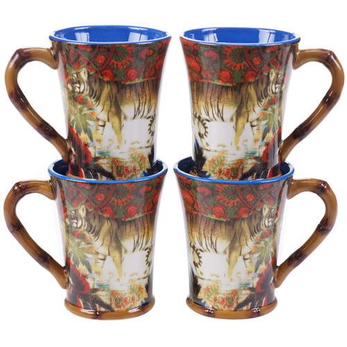 Tracy Porter Imperial Bengal 18 oz. Coffee Mug (Set of 4) - Walmart.com