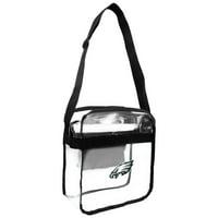 Little Earth - NFL Clear Carryall Cross Body Bag, Philadelphia Eagles