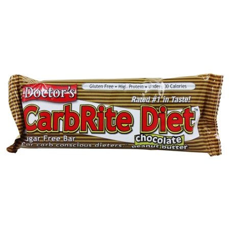 Doctor's CarbRite Diet Bar, Chocolate Peanut Butter, 21g protein, 12 Ct ()