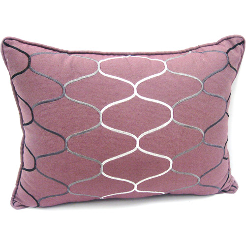 Better Homes and Gardens Stitched Ombre Accent Pillow, Plum Vine