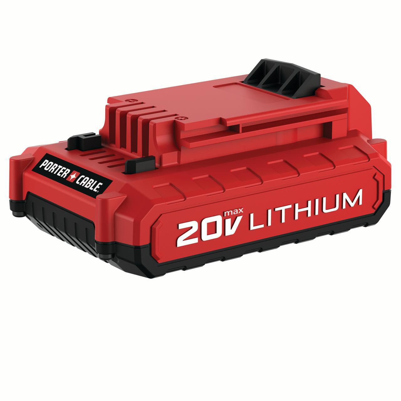 PORTER CABLE 20-Volt Max 2.0-Amp Lithium-Ion Battery, PCC682L