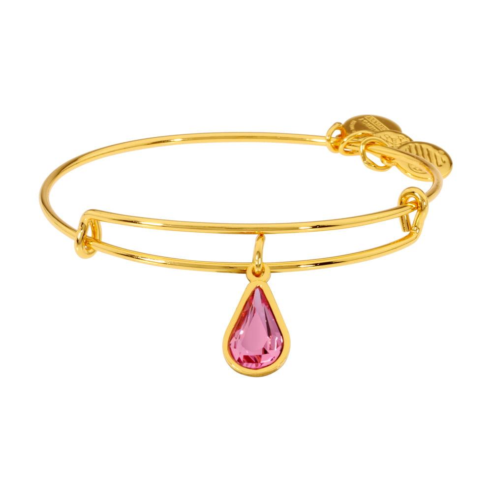 Alex and Ani JULY Crystal Birthstone RUBY Bracelet Yellow Gold Finish NWTBC