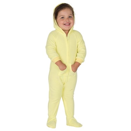 e8c47cd4c6a6 Footed Pajamas - Footed Pajamas - Mellow Yellow Infant Hoodie Fleece ...
