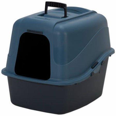 22026 Jumbo Hooded Litter Pan Assorted Colors  Usa  Brand Petmate