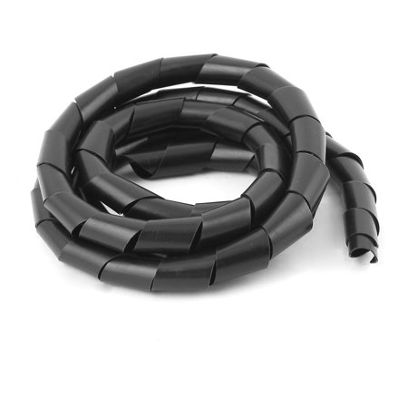 1.8M Long 14mm Dia Black Spiral Wrapping Band Cable Manager - image 2 of 2