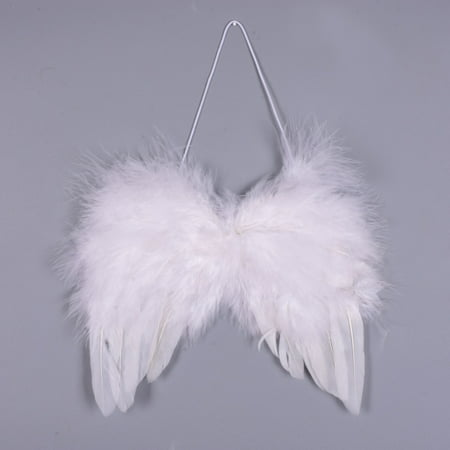 Double Angel Wing (Angel Feather Wings Festival Costume Angel Fairy Wings for Christmas Holiday)