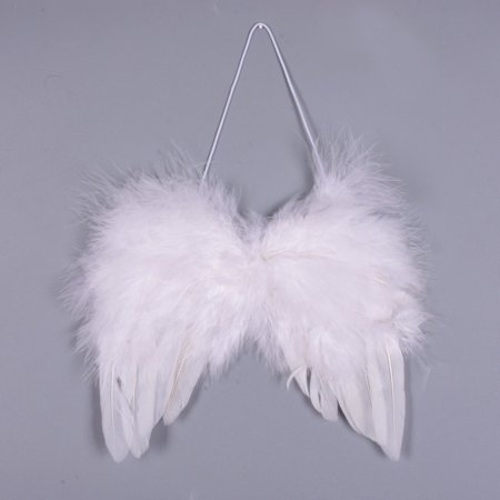 Angel Feather Wings Festival Costume Angel Fairy Wings for Christmas Holiday Party