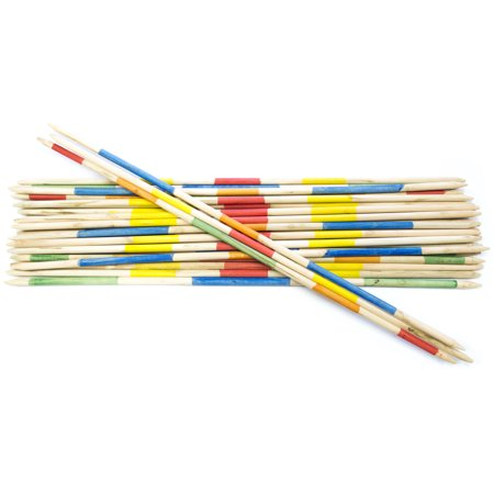 Striker Games - Mikado Giant Pick-Up Sticks - Giant Outdoor Games/Outdoor Toys - 35 Inch Wooden Sticks - Factory Defect (Rules For Pick Up Sticks)