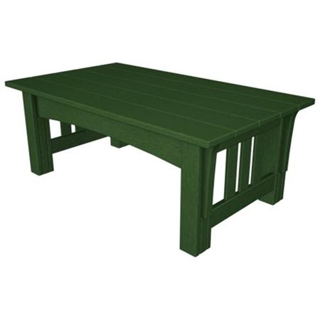 Poly Wood MS2748GR Mission Coffee Table Green by POLY WOOD INC