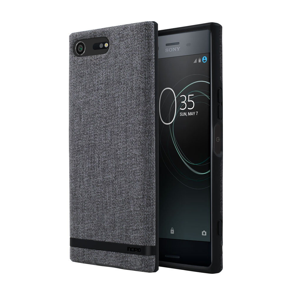 Incipio Carnaby Sony Xperia XZ Premium Case [Esquire Series] with Co-Molded Design and Ultra-Soft Cotton Finish for Sony Xperia XZ Premium - Gray
