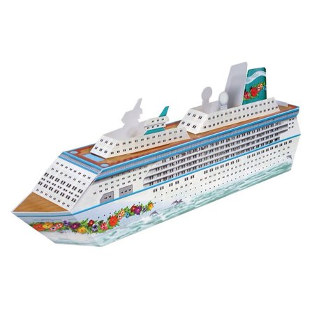 Club Pack of 12 Nautical White 3-Dimensional Cruise Ship Decorative Party Centerpieces 13.25