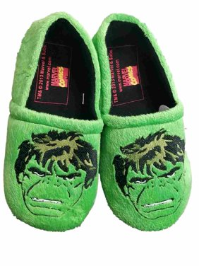 6346b8a02eb Product Image Mens Green Hulk Marvel Comics Slippers Scuffs House Shoes