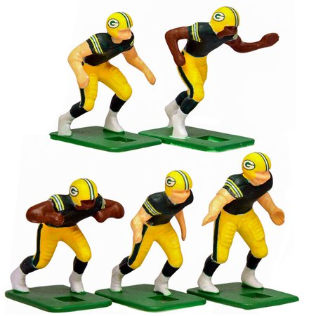 Green Bay Packers Dark Uniform Action Figures Set - No Size - Packers Uniforms