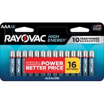 Batteries: Rayovac High Energy