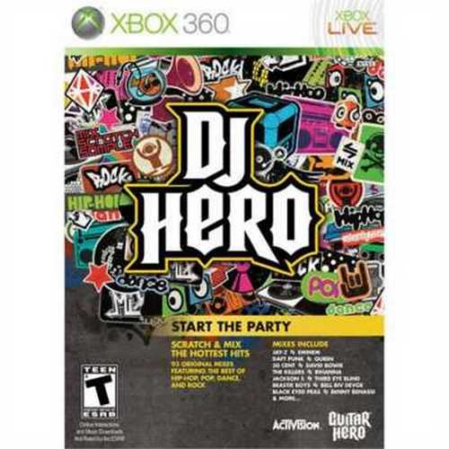 DJ Hero Game Only (Xbox 360) Used by FreeStyle Games