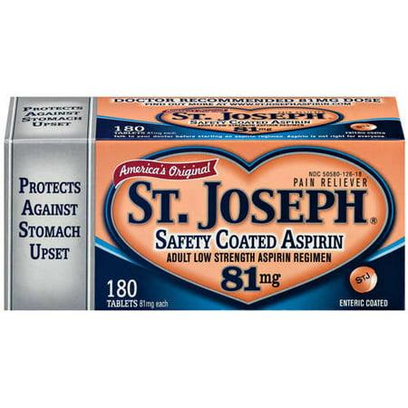 St Josephs Health Products St Joseph Safety Coated Aspirin
