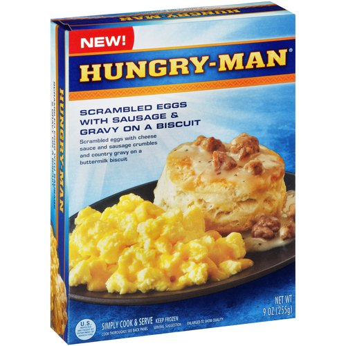 Hungry-Man Scrambled Eggs with Sausage & Gravy on a Biscuit, 9 oz
