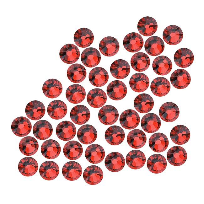 Swarovski Crystal, Round Flatback Rhinestone SS20 4.6mm, 50 Pieces, Indian Siam