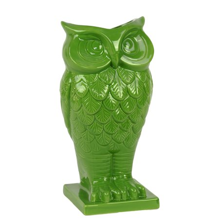 Beautiful & Spectacular Owl Design Ceramic Vase In Green ()