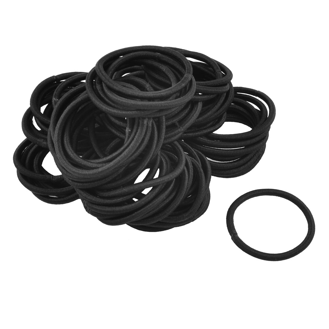 80 Pcs Nylon Bobbles Stretchy Hair Ties Hair Bands Ponytail Holders Black