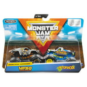 Monster Jam, Official Max D vs. Aftershock Die-Cast Monster Trucks, 1:64 Scale, 2 Pack
