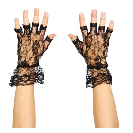 Fingerless Black Lace Gloves - Black Lace Gloves
