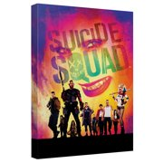 Suicide Squad Jokers Eyes Looms Canvas Wall Art With Back Board