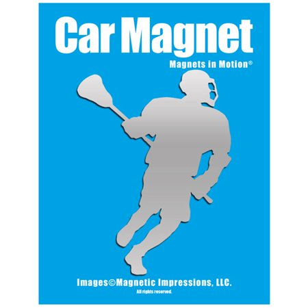 Lacrosse Male Player Car Magnet - Halloween Car Magnets