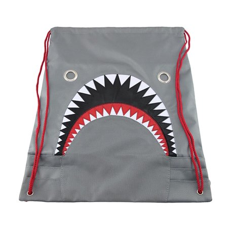 dedd01dc158b Mean Gray Shark Nylon Drawstring Backpack | Walmart Canada