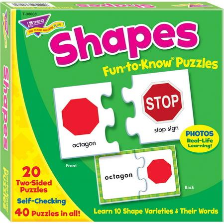 Trend, TEP36008, Shapes Puzzle Set, 40 / Each, Multicolor (Shape Puzzles)