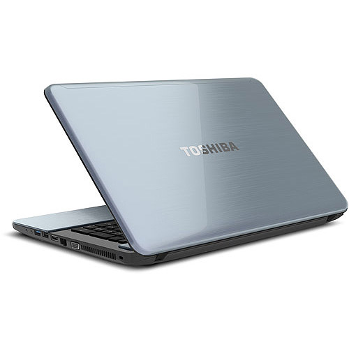"""Toshiba Ice Blue Brushed Aluminum 17.3"""" Satellite S875D-S7239 Laptop PC with AMD A10-4600M Accelerated Processor and Windows 7 Home Premium with Windows 8 Pro Upgrade Option"""