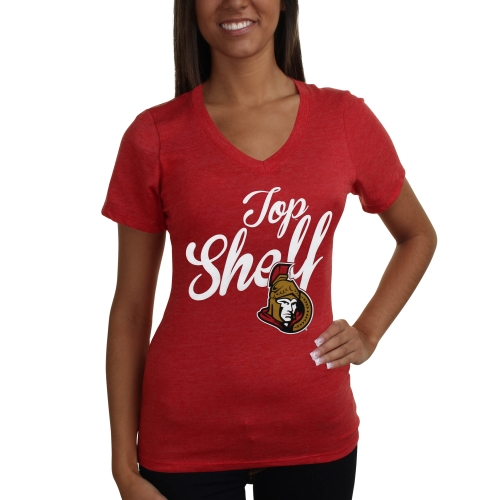 Ottawa Senators Women's Top Shelf Tri-Blend T-Shirt - Red