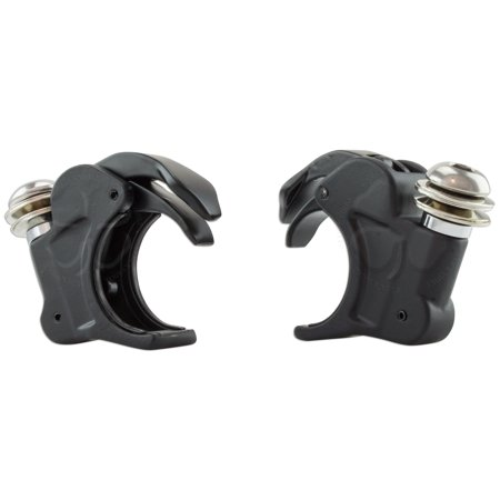 Fork Black Harley Davidson Softail Mount 2x 41mm Quick Release Windshield Clamp ()