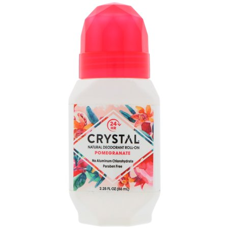 Crystal Body Deodorant Natural Deodorant Roll-On Pomegranate 2 25 fl oz 66 ml