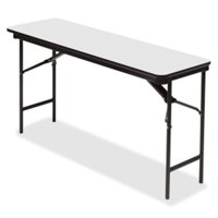 18 x 60 in. Premium Wood Laminate Folding Table, Gray