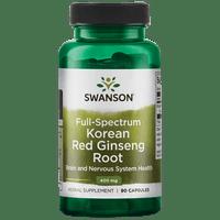 Swanson Full Spectrum Korean Red Ginseng Root Capsules, 400 mg, 90 Ct