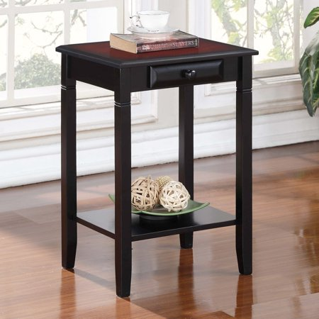 Linon Home Decor Camden Accent Table Black Cherry