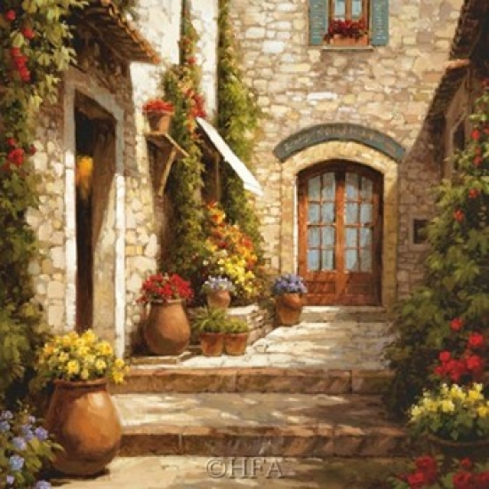 Sunlit Courtyard Poster Print by Steven Harvey (28 x 28)