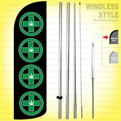 Windless Swooper Flag 3x11.5 ft Feather Banner Sign kq PUMPKIN PATCH