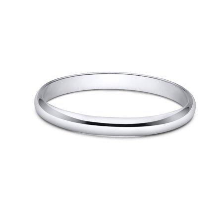 Sterling Silver Wedding Band 2mm Men or Women Bridal Ring Size 5 | Polished Finish | Tarnish Resistant Silver Polished Finish Plain Band