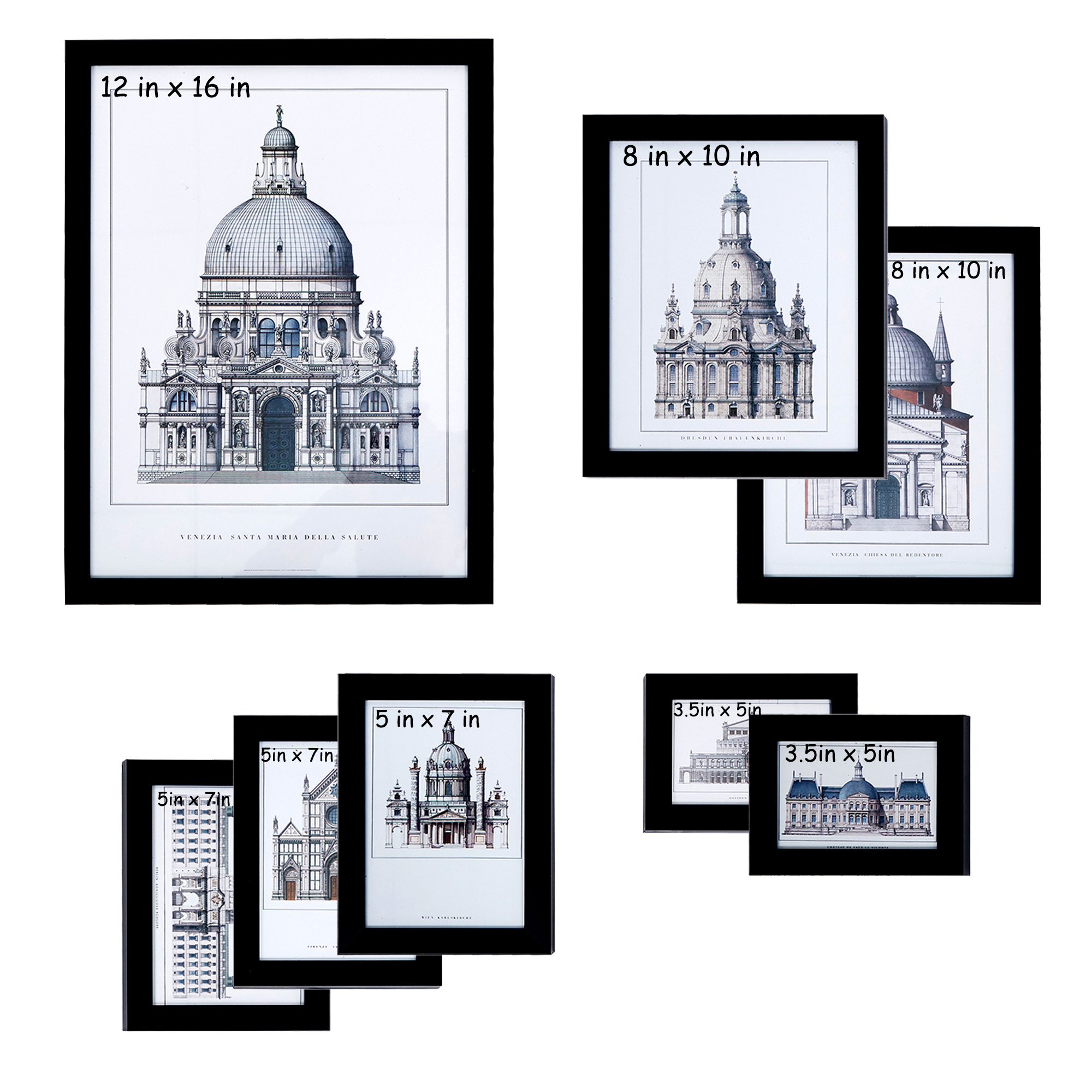 Karmas Product Picture Frame Sets Of 8 1 Pc 12x16 In 2 Pcs 8x10 In