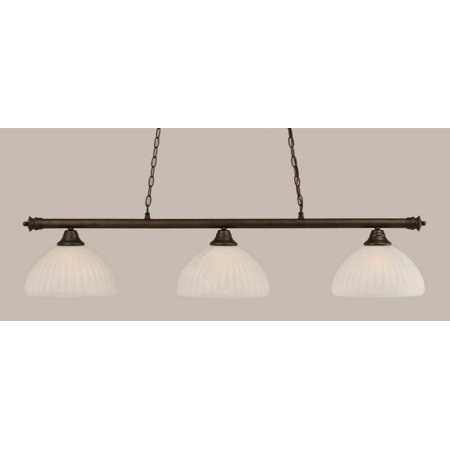 Toltec Lighting-373-BRZ-5231-Oxford - Three Light Billiard  Bronze