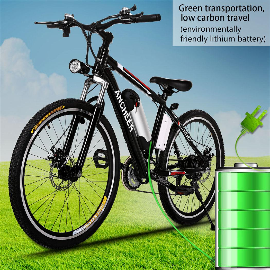 "ANCHEER 25"" Electric Bike Mountain Bicycle Power Plus with Lithium-Ion Battery Aluminum Alloy"